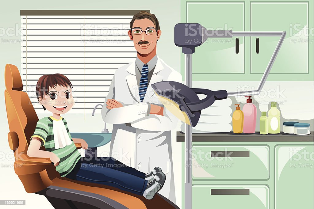 Kid in dentist office royalty-free kid in dentist office stock vector art & more images of adult