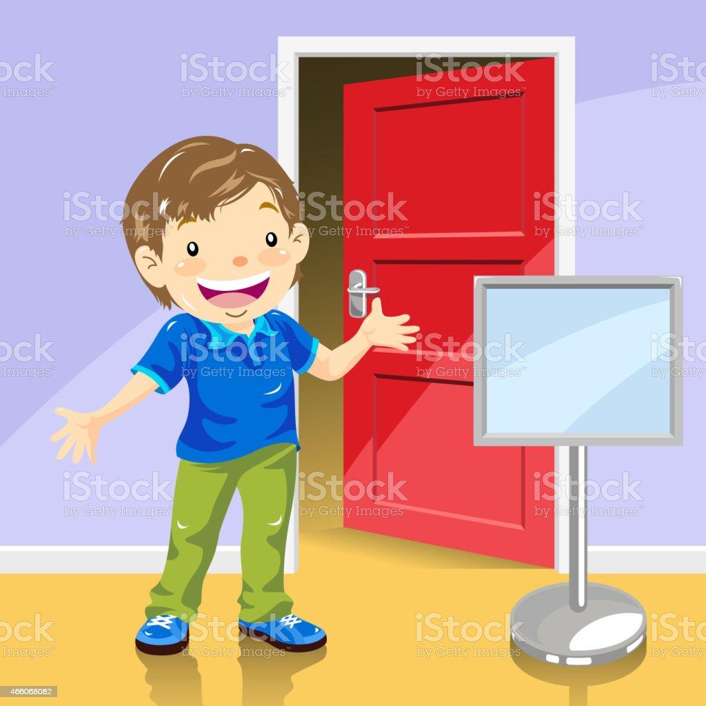 open front door illustration child open front door clip art vector images illustrations royalty free