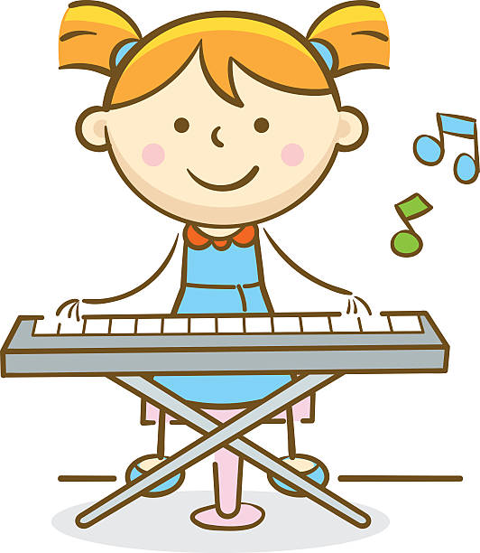 Royalty Free Playing Piano Clip Art, Vector Images ...