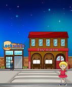 Kid, locksmith and fire station