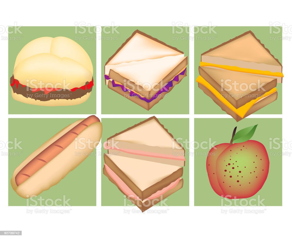 Kid lunch favorites royalty-free kid lunch favorites stock vector art & more images of apple - fruit