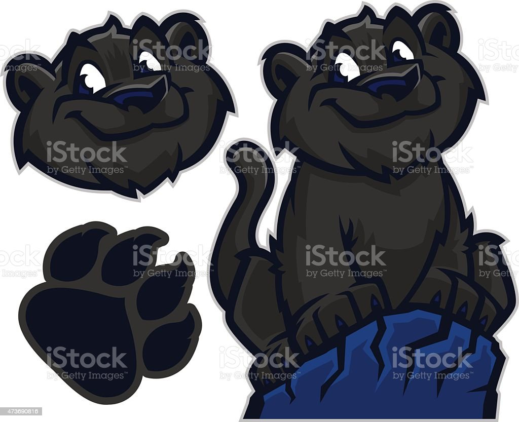Kid Panther vector art illustration