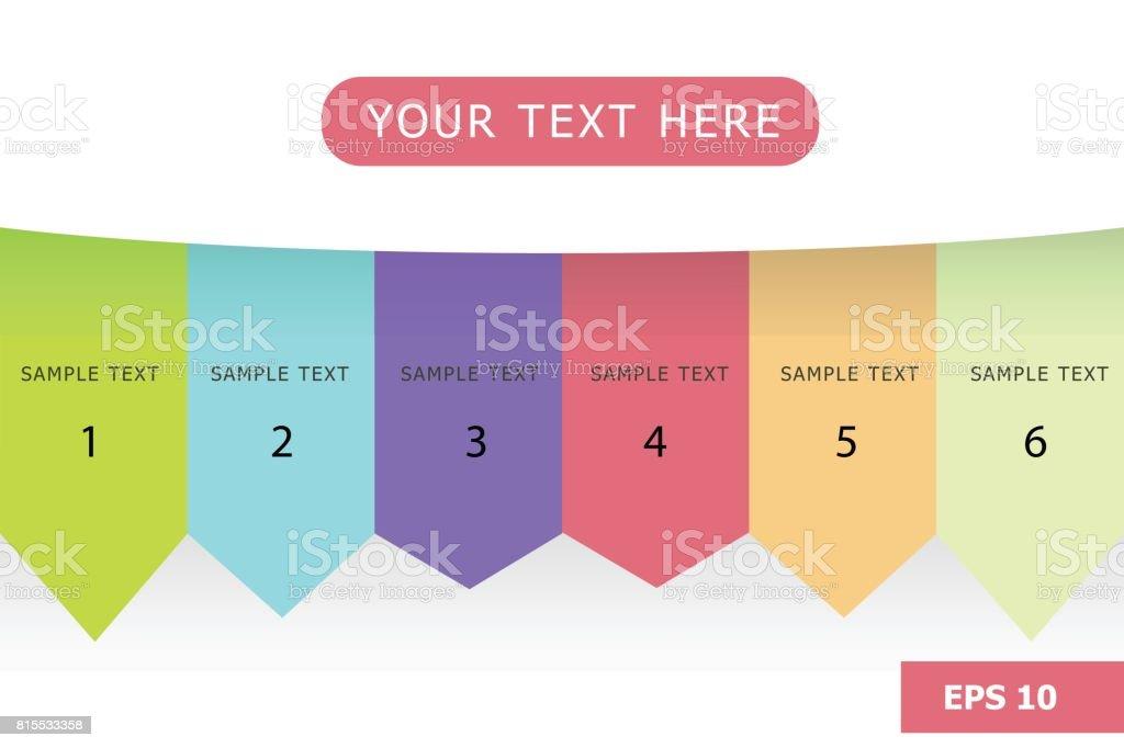 Kid Pastel Color Tone Presentation Chart Info Graphic Stock Vector ...