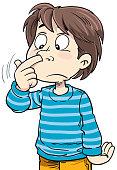 kid picks his nose