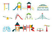 Vector icon set with different types of elements on the playground.