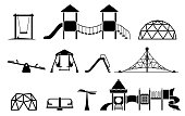 Icon set with different types of elements on the playground.