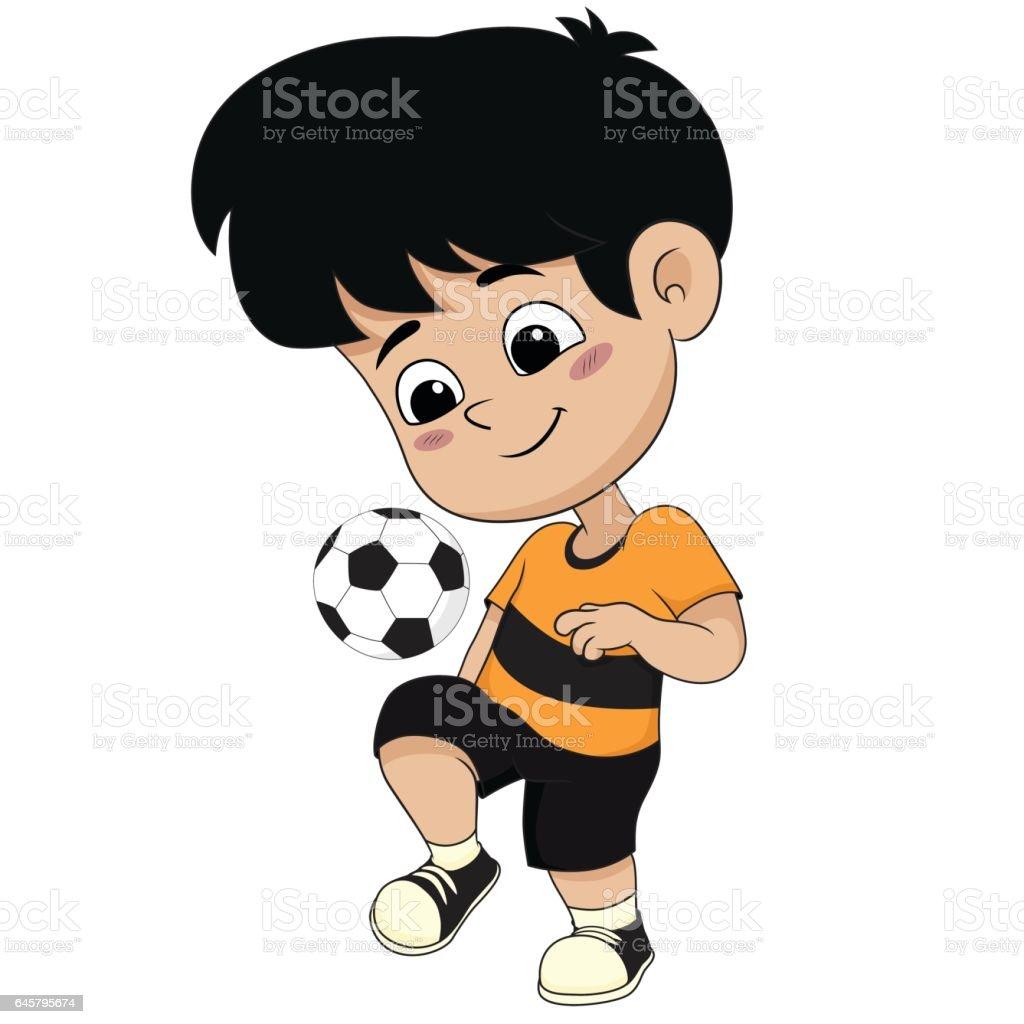 Fussball Stock Kinder Comic Spielen Und Mehr Bilder Vektor