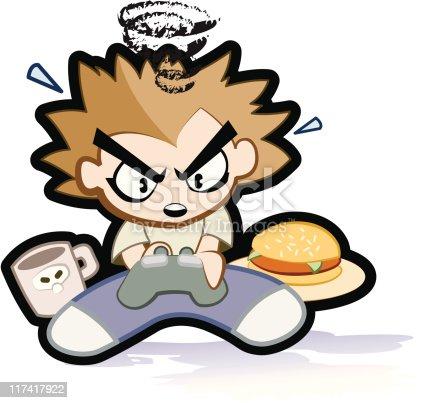 Criança jogando vídeo Game