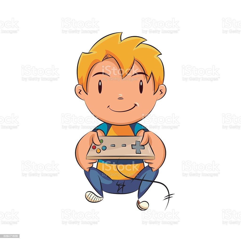 Enfant qui joue des jeux vid o cliparts vectoriels et plus d 39 images de activit 509471638 - Console de jeux pour enfant ...