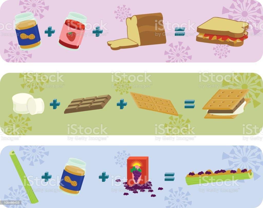 Kid recipes vector art illustration