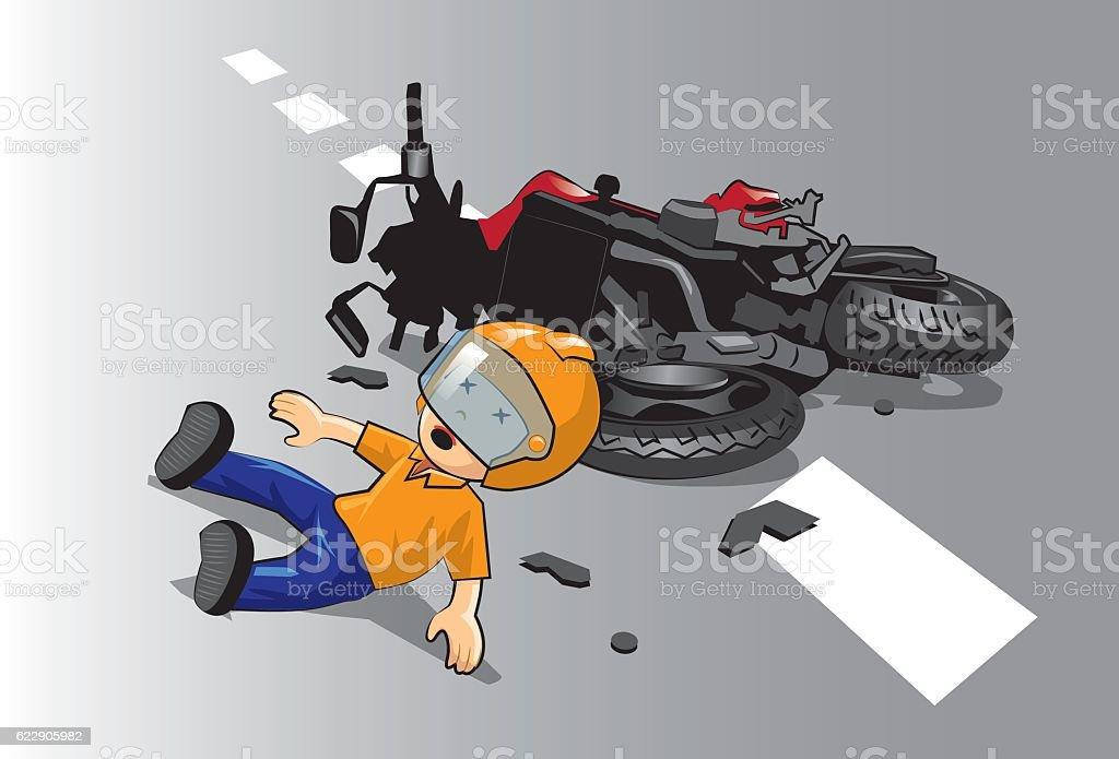 kid rider. vector art illustration