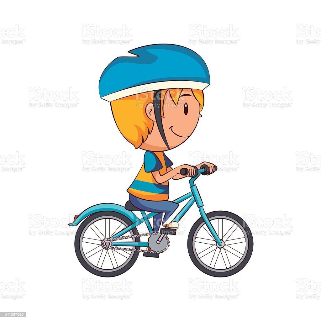 Kid Riding Bike Stock Vector Art 541597696 Istock