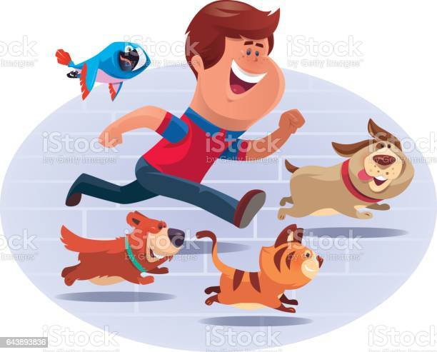 Kid running with pets vector id643893836?b=1&k=6&m=643893836&s=612x612&h=omwivesshn2ylruxridbprfvrdhqp9zqox21s37t4kw=