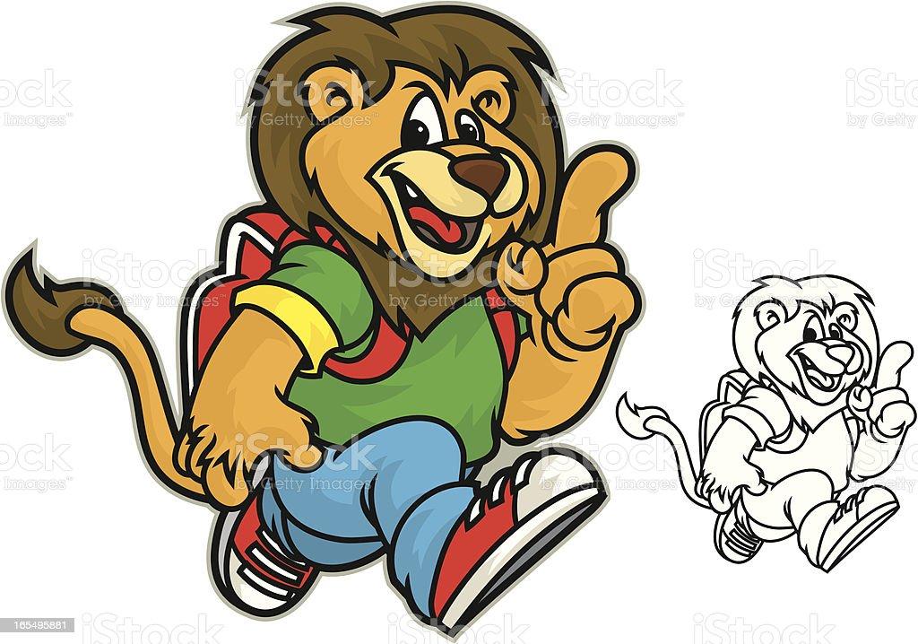 Kid School Lion royalty-free stock vector art