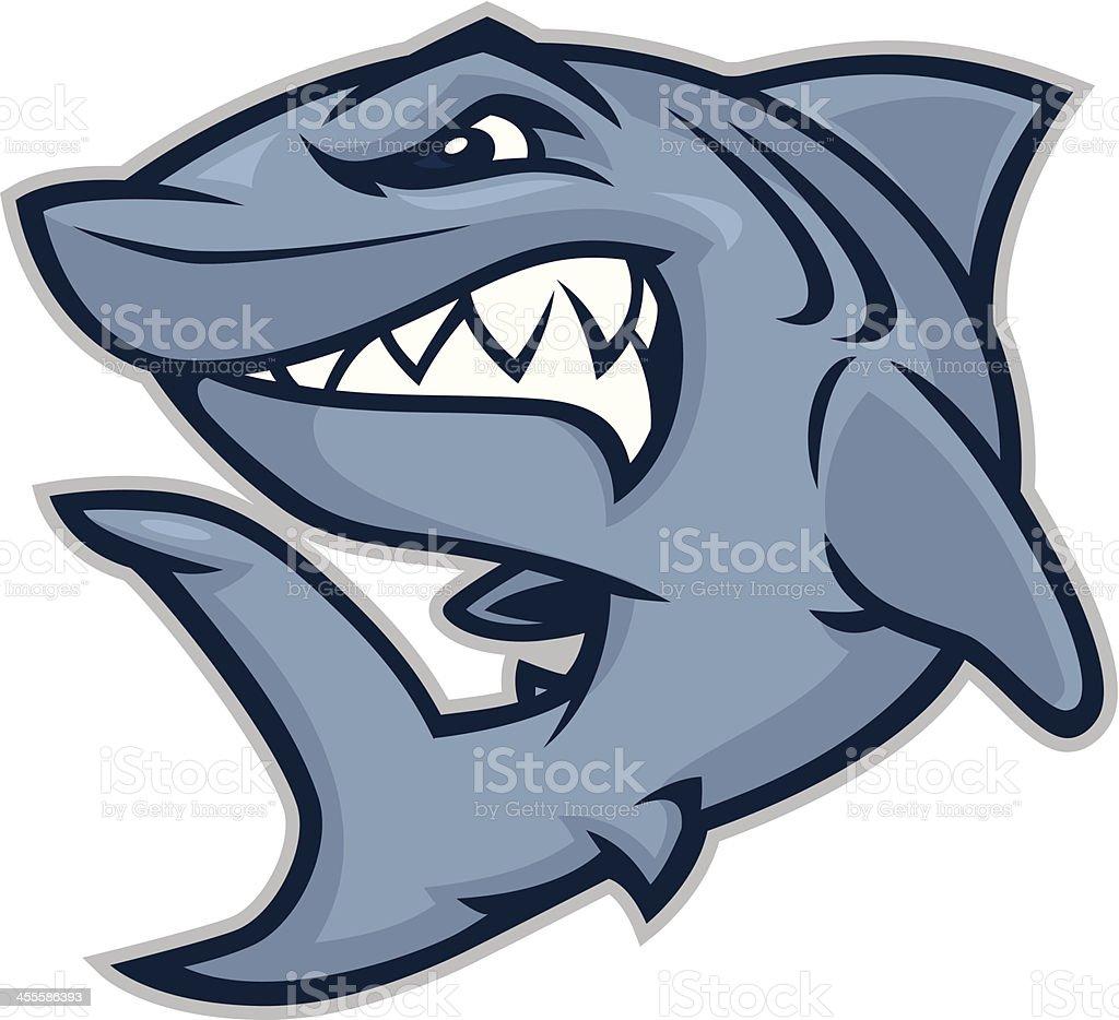 Kid Shark vector art illustration