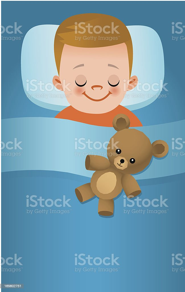 Kid sleeping royalty-free stock vector art