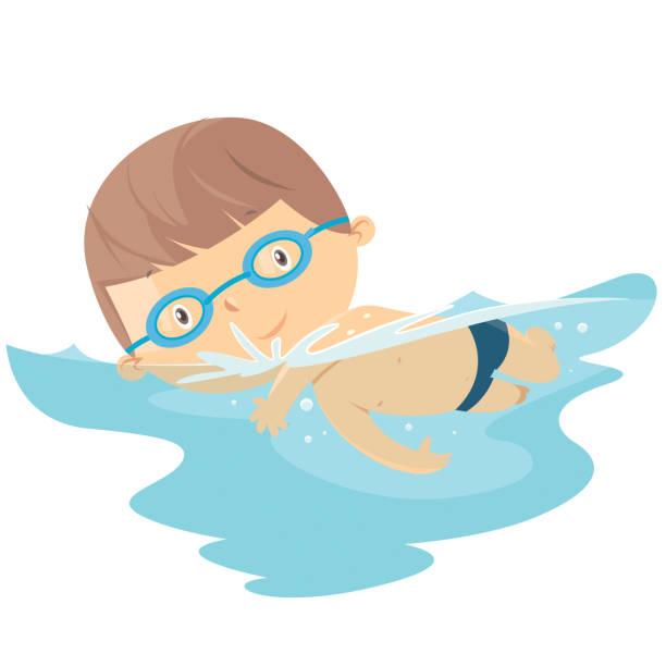 illustrations, cliparts, dessins animés et icônes de la piscine pour enfants - natation