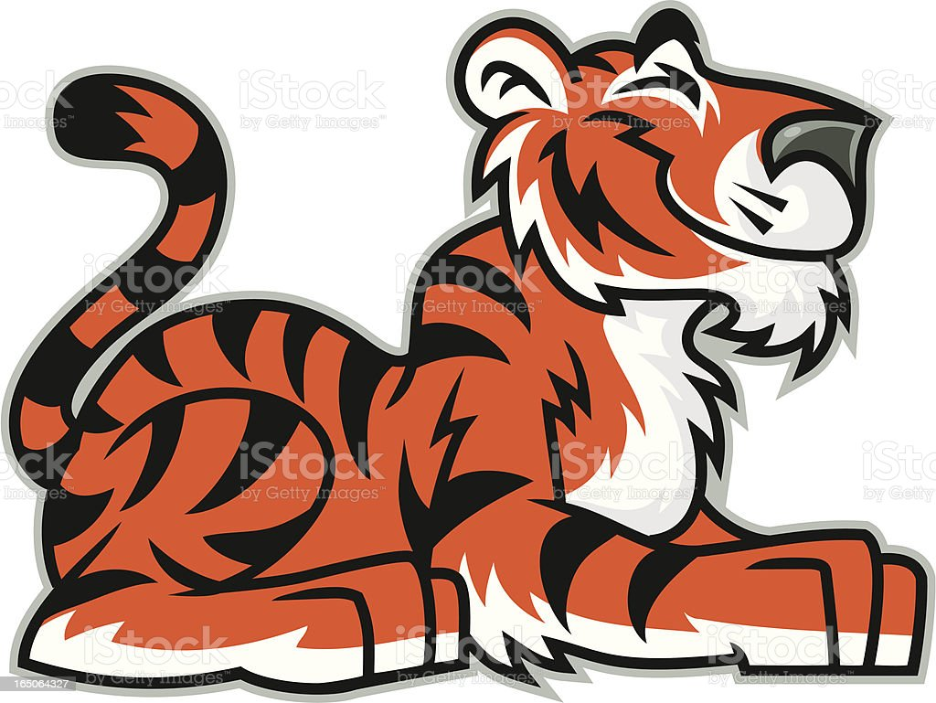 Kid Tiger royalty-free stock vector art