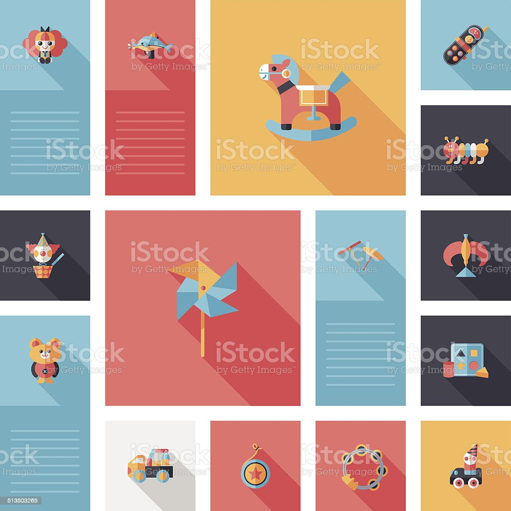 kid toys flat app ui background,eps10 vector art illustration