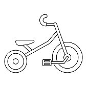 Kid tricycle icon, outline style