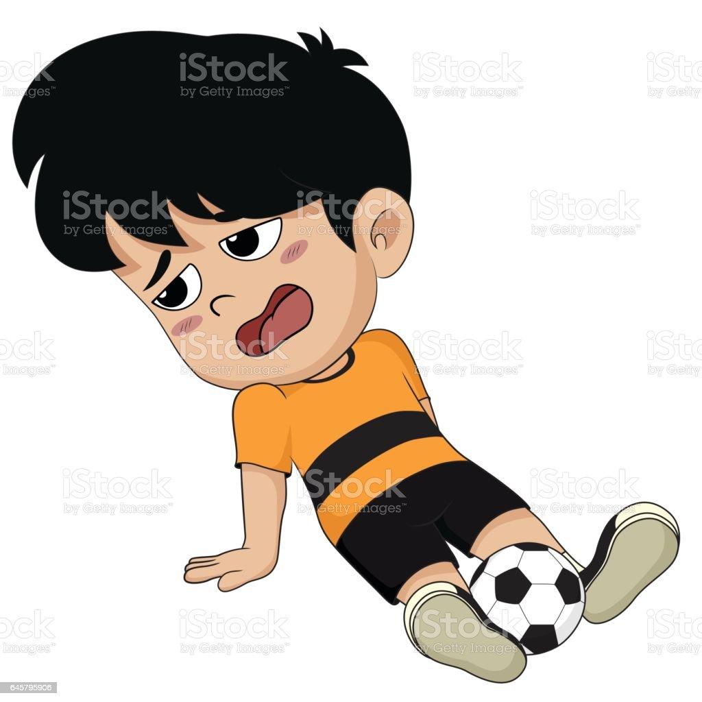 royalty free tired football clip art vector images illustrations rh istockphoto com