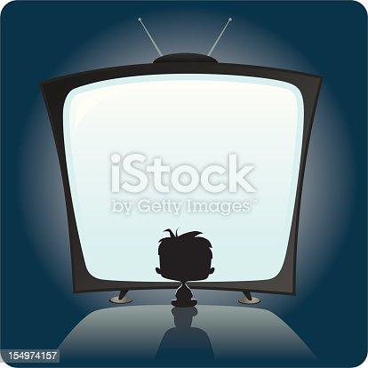 istock Kid Watching TV 154974157