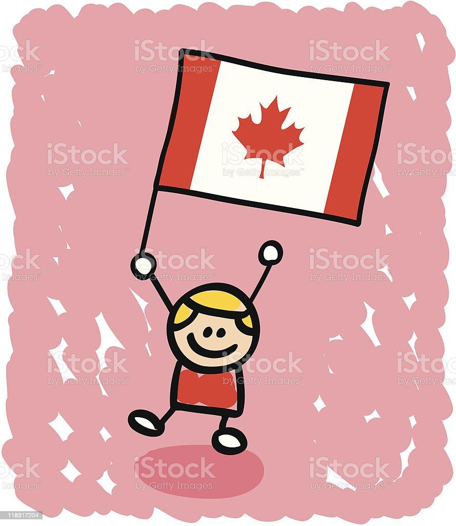 kid with canada flag cartoon stock vector art 118317204 istock