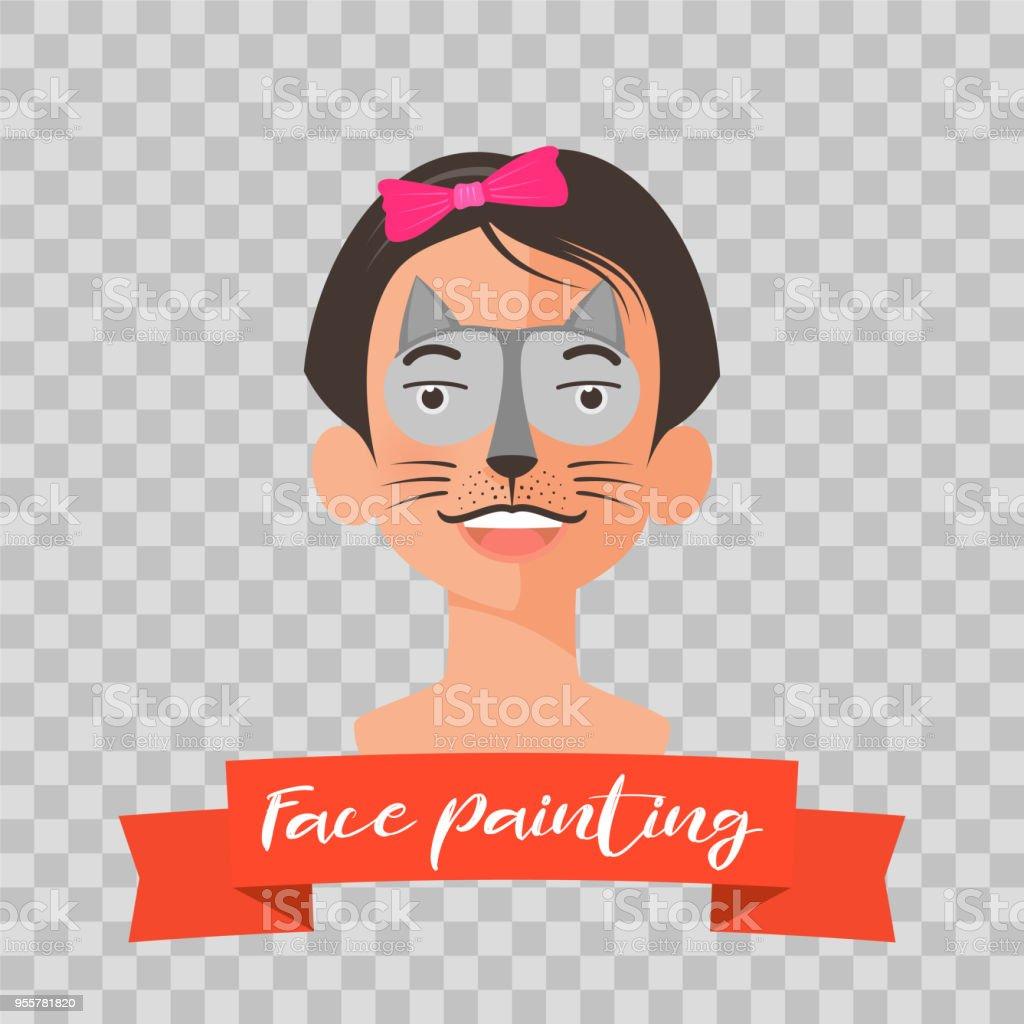 Kedi Yüz Vektör çizim Boyama çocuk Stok Vektör Sanatı Abdnin Daha