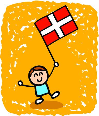 Kid With Denmark Flag Cartoon Stock Illustration ...