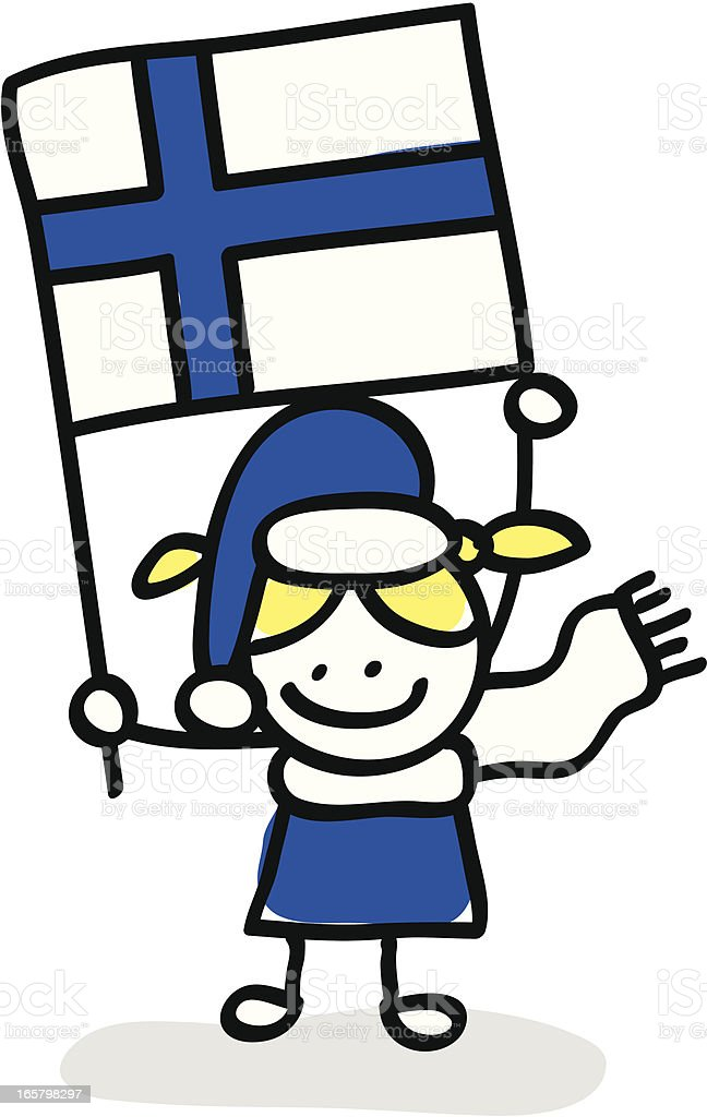 kid with Finland flag cartoon illustration royalty-free kid with finland flag cartoon illustration stock vector art & more images of boys