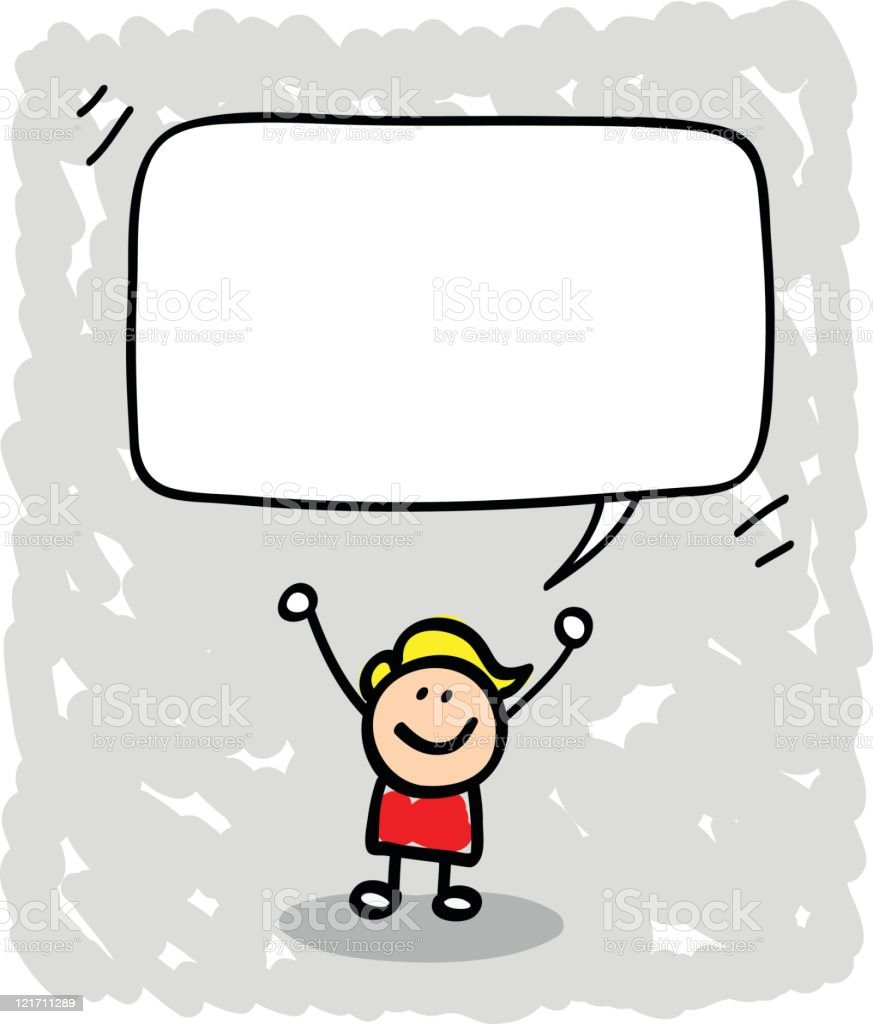 kind mit sprechblase comic stock vektor art und mehr speech bubble clipart speech clip art or images for free