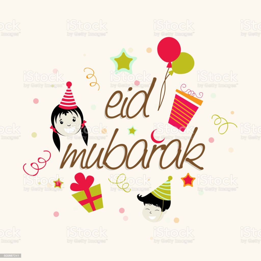 Kiddish greeting card with stylish text eid mubarak stock vector art kiddish greeting card with stylish text eid mubarak royalty free kiddish greeting card with m4hsunfo
