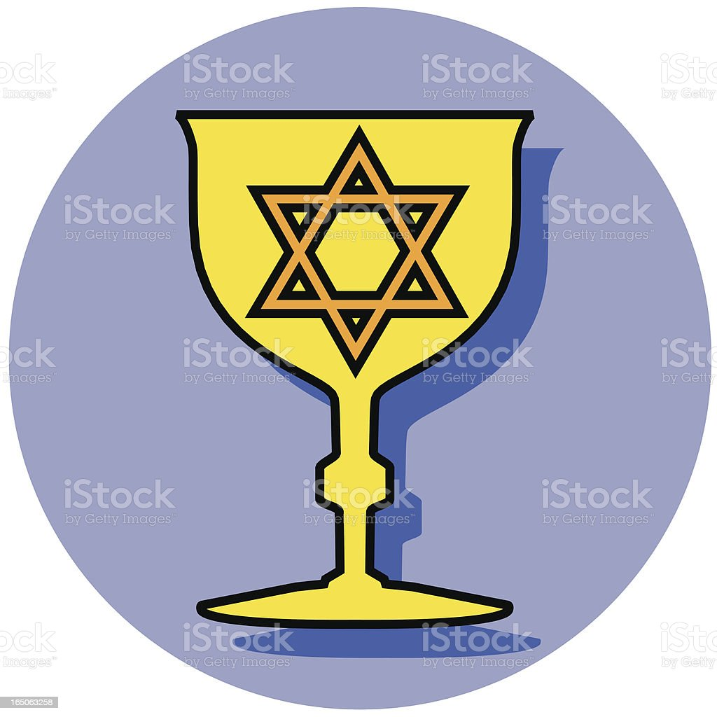Kiddush cup royalty-free stock vector art