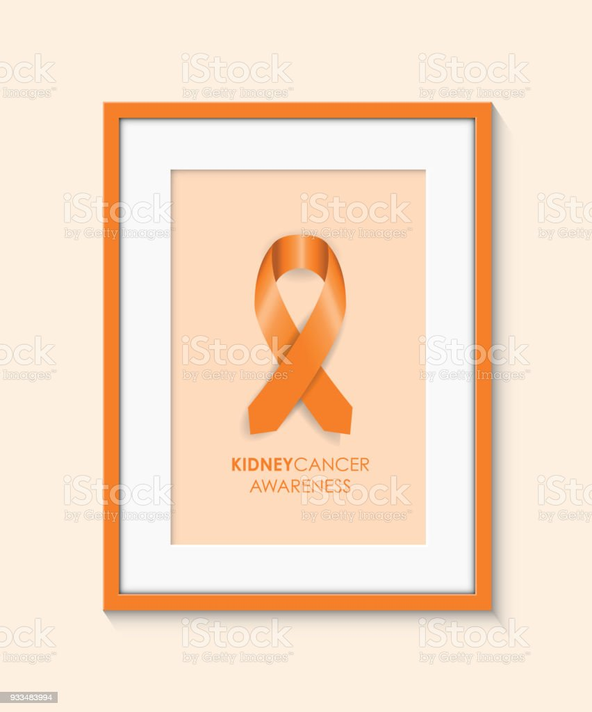 Kidney Cancer Awareness Frame Stock Vector Art More Images Of