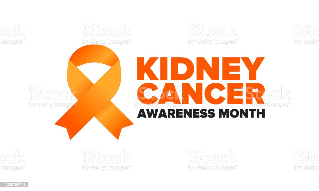 Kidney Cancer Awareness Month Celebrate Annual In March Control And Protection Prevention Campaign Medical Healthcare Concept Poster With Ribbon Banner And Background Vector Illustration Stock Illustration Download Image Now Istock