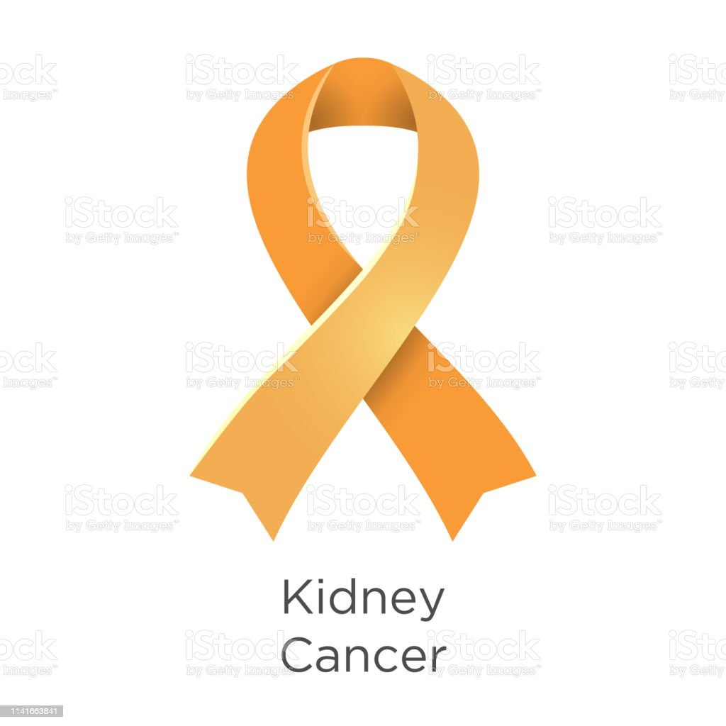 Kidney Cancer Awareness Month In March Also Called Renal Cancer Orange Color Ribbon Cancer Awareness Products Vector Illustration White Isolated Stock Illustration Download Image Now Istock