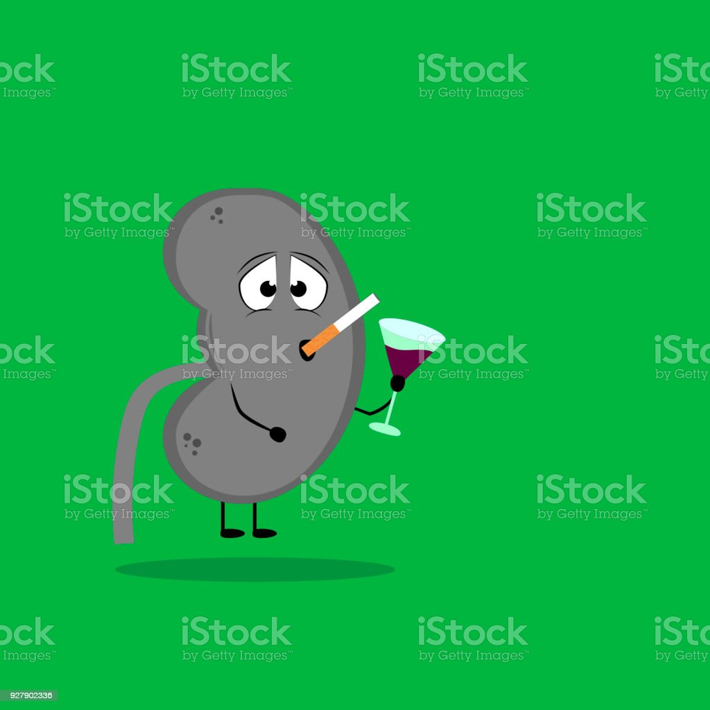 Kidney Sick Stock Vector Art & More Images of Addiction 927902336 ...