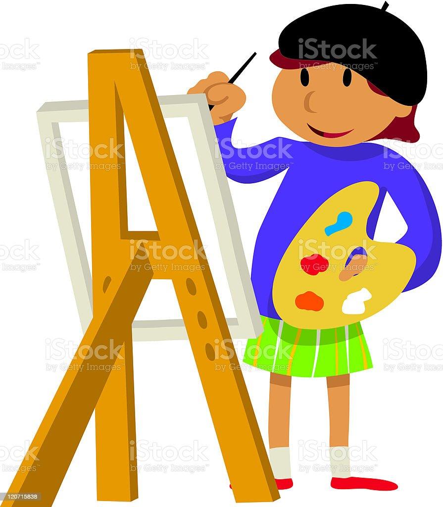 Kids' activities vector art illustration