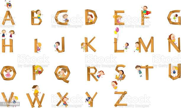 kids playing on alphabet