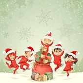 istock Kids and Christmas Gifts 1188650521