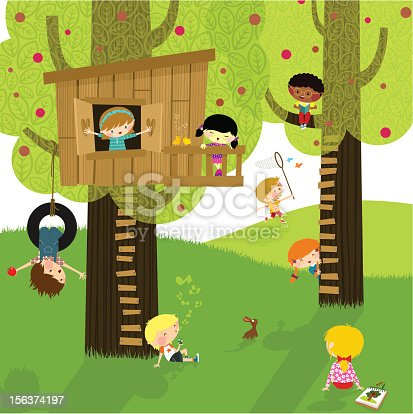 istock Kids and nature. Summer camp. Playing & learning. 156374197
