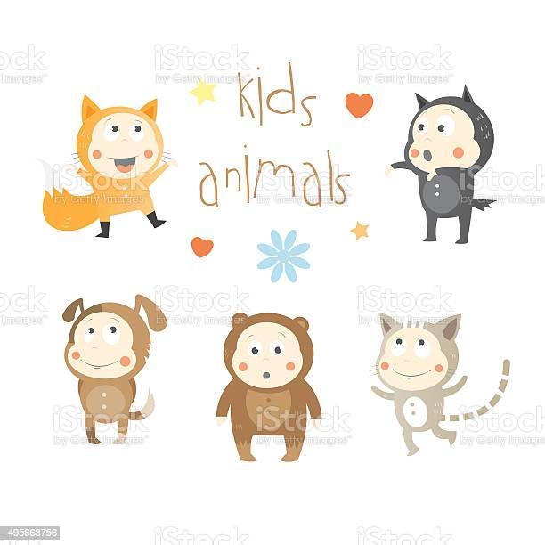 Kids animals set vector id495663756?b=1&k=6&m=495663756&s=612x612&h=bp hxdcs393egnu1cckgefammwy6z8ihanguht9v0di=