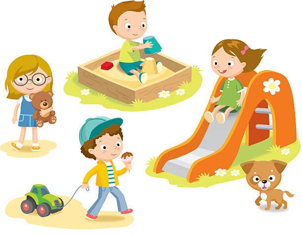 お子様のプレイグラウンド - 校庭点のイラスト素材/クリップアート素材/マンガ素材/アイコン素材