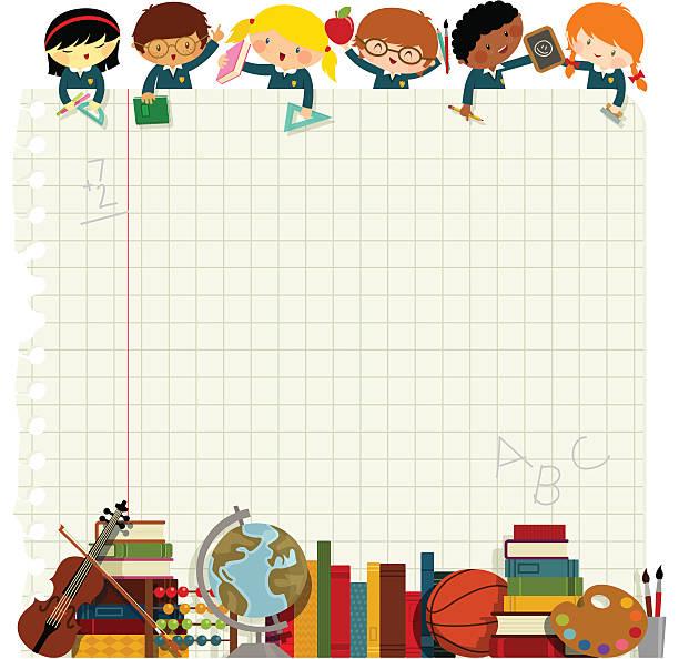 stockillustraties, clipart, cartoons en iconen met kids back to school - schooluniform