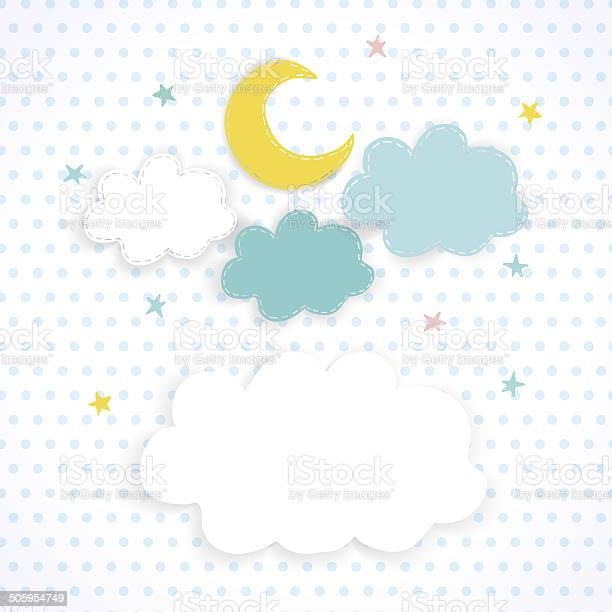 Kids background with moon clouds and stars vector id505954749?b=1&k=6&m=505954749&s=612x612&h=lppekjcdo5yxy1e32wvk3ewo rdgatfvc2rq3ayb3hi=