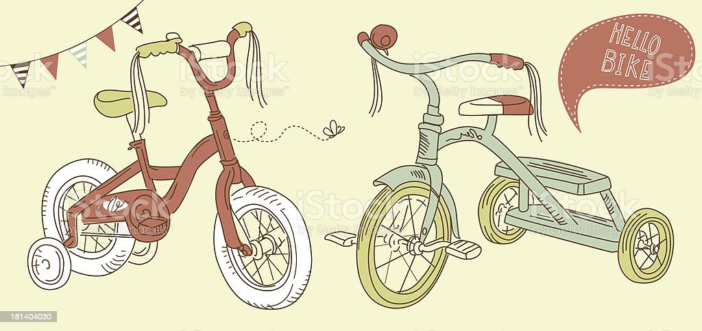 Kids Bicycle royalty-free kids bicycle stock vector art & more images of bicycle