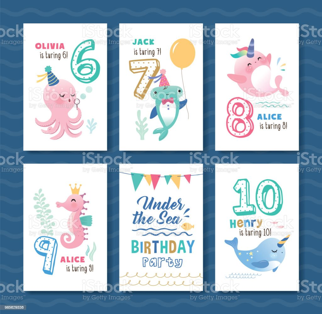 Kids Birthday Cards Template