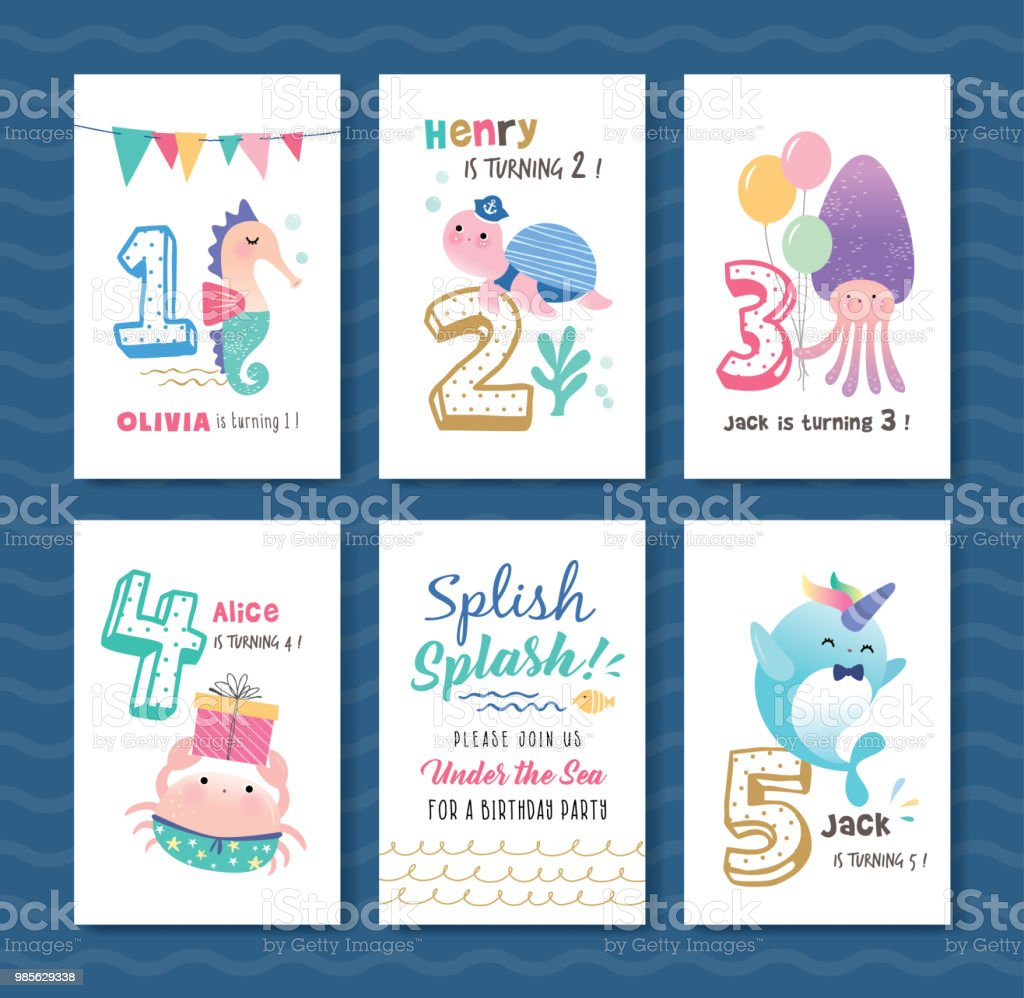 Kids Birthday Cards Template