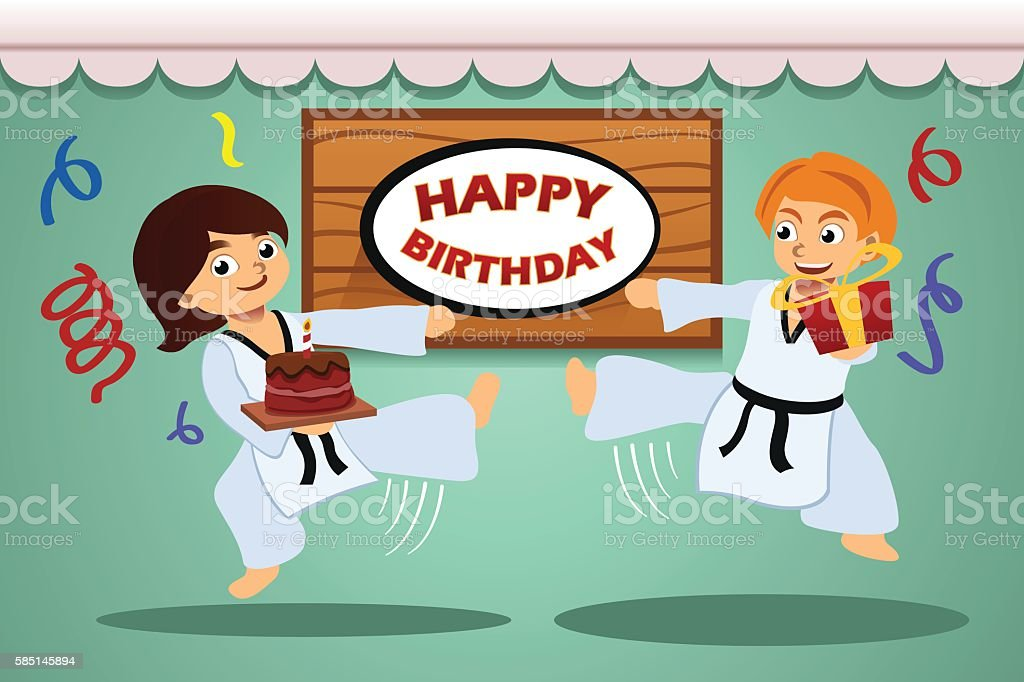 Kids Birthday Party vector art illustration