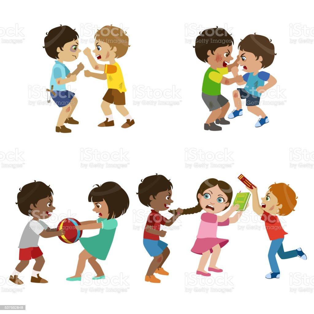 Kids Bullies Illustration vector art illustration